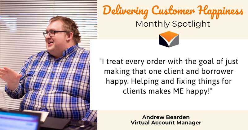 Delivering Customer Happiness Monthly Spotlight – featuring Andrew Bearden