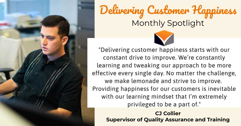 Delivering Customer Happiness Monthly Spotlight – featuring CJ Collier