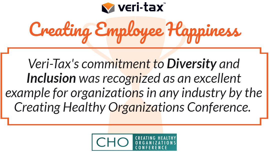 Veri-Tax Awarded Best Practitioner Presentation at the Creating Healthy Organizations Conference